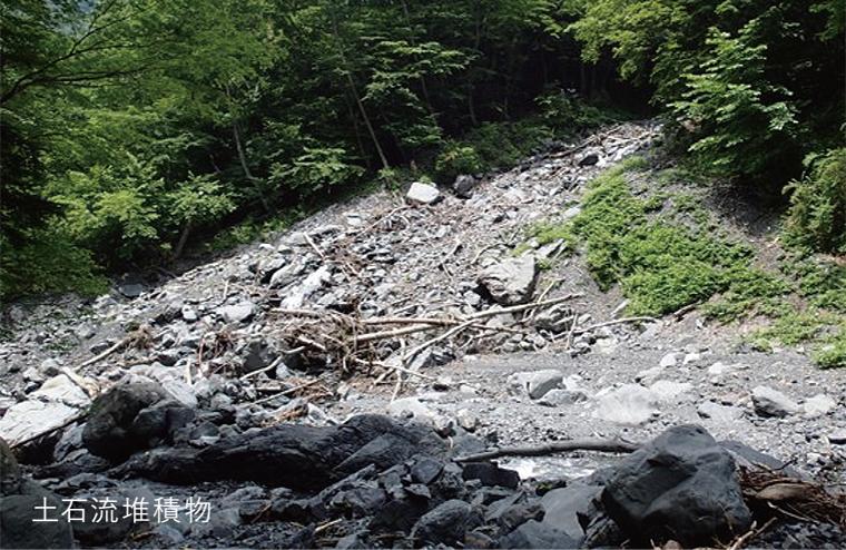 二大断層と土砂移動