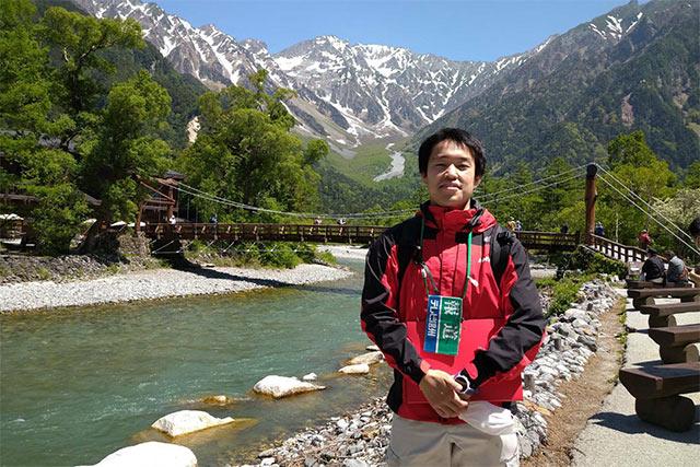 山岳取材で活躍中の滝口記者